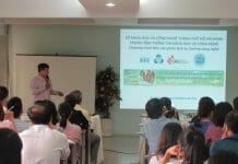 TS. Nguyễn Bá Thanh - Phó Viện trưởng Viện Công nghệ sinh học và Thực phẩm, Đại học Công nghiệp TP.HCM tại buổi báo cáo