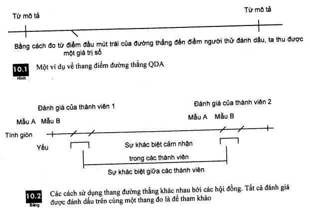 Thang điểm đường thẳng trong phép thử mô tả qda