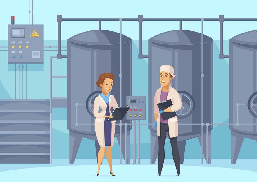 Công việc của một kỹ sư thực phẩm trong dây truyền sản xuất thường là theo dõi, đảm bảo các sản phẩm đạt chất lượng tốt nhất, khắc phục các sự cố....